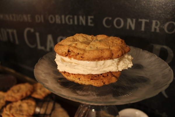 ... or just go all the way and sandwich a scoop of softened ice cream between two cookies. Enjoy!